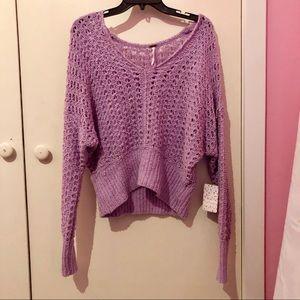 NWT Free People Purple Moo Sweater BRAND NEW!!!